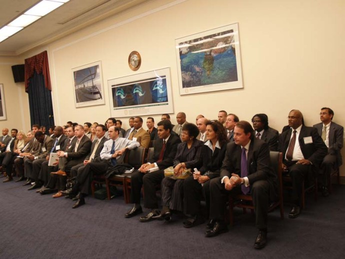 David Hawk EMBA Class Visiting Congress